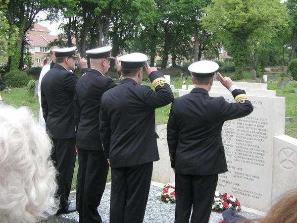 Polish Naval officers pay tribute at 65th commemorations.